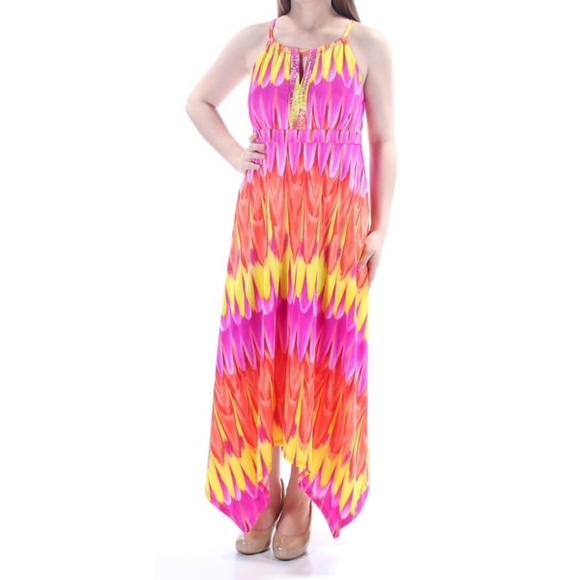 a567354c868c Colorful pink maxi dress XL. NWT. INC International Concepts